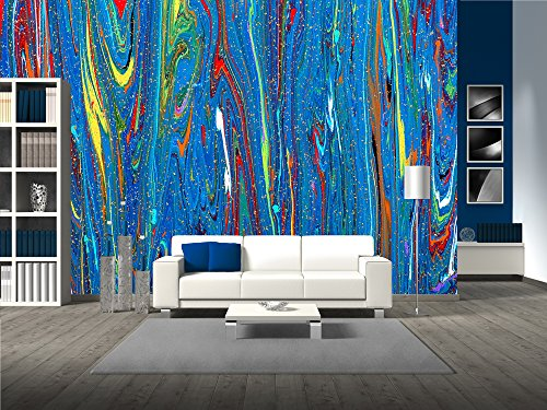 Closeup View of an Original Painting Abstract Dark Grunge Background