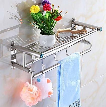 bbslt-porta toallas baño elegante, minimalista de acero inoxidable Individual capa doble toallas,