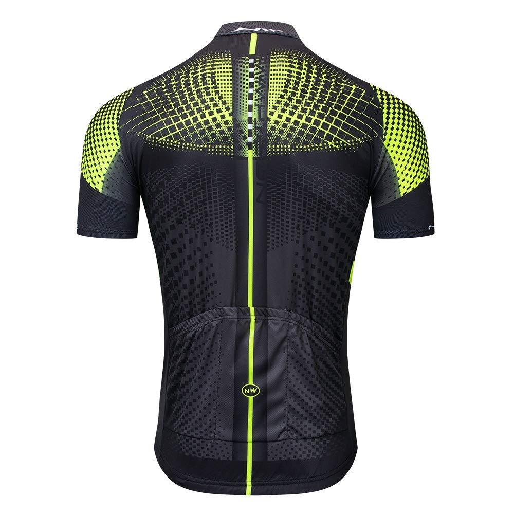 ADKE Verano Conjunto Ropa Bicicletas Hombre Maillot Ciclismo Mangas Cortas Respirable Secado r/ápido Culotte Pantalones Cortos MTB con 3D Gel Acolchado