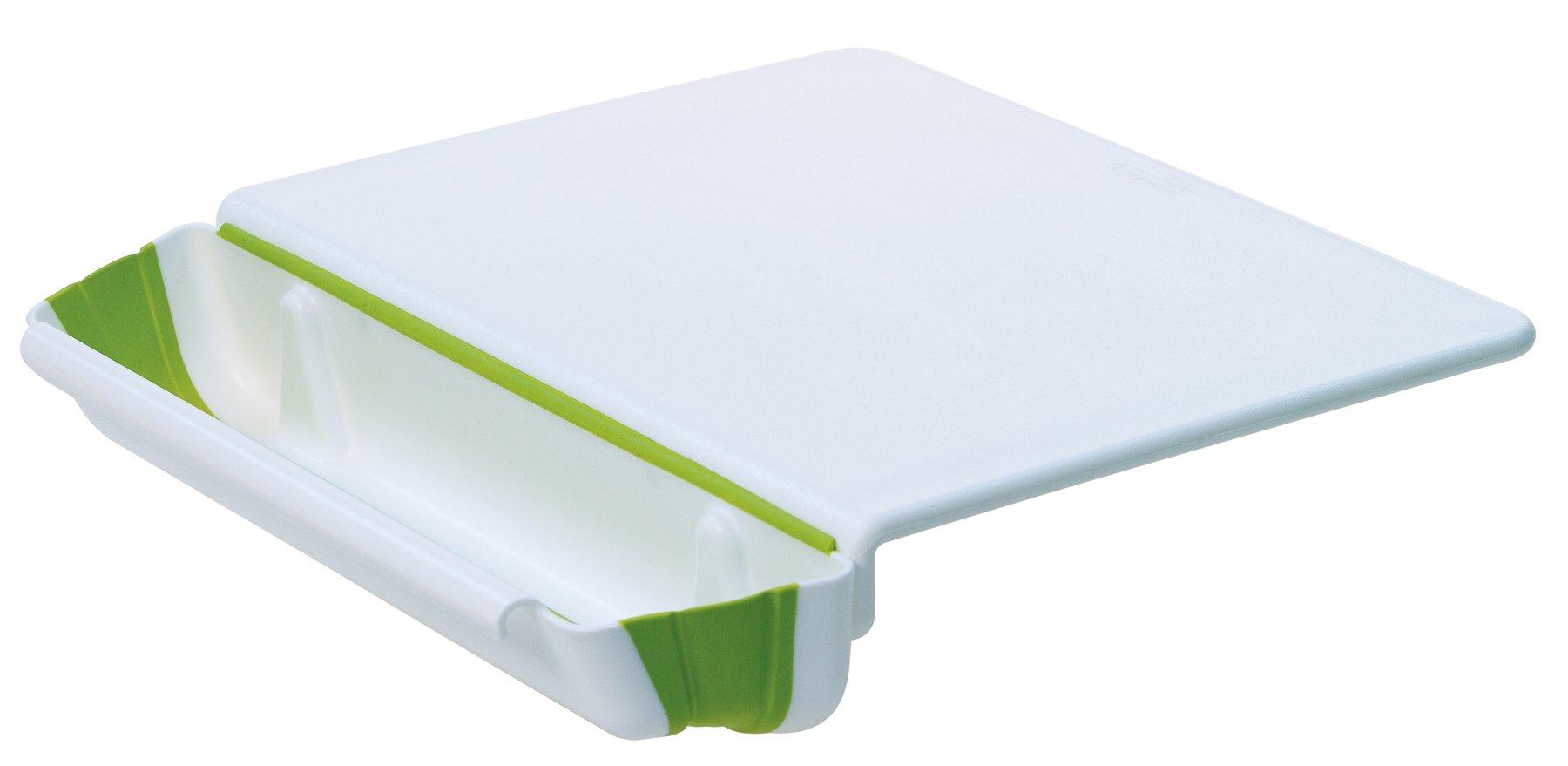 Progressive International, PCB-3600 11x15 Counter Edge Cutting Board with Collapsible Scrap Bin