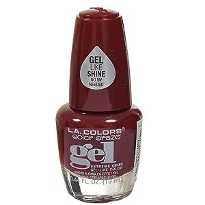 L.A. Colors Extreme Shine Gel Nail Polish CNP705 Vampy 1 pcs