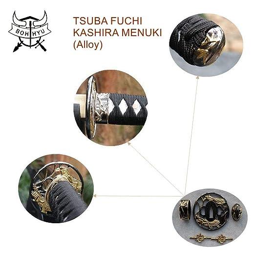 Amazon.com: Boyu BOHIHYU Espada Samurai Katana consta de ...