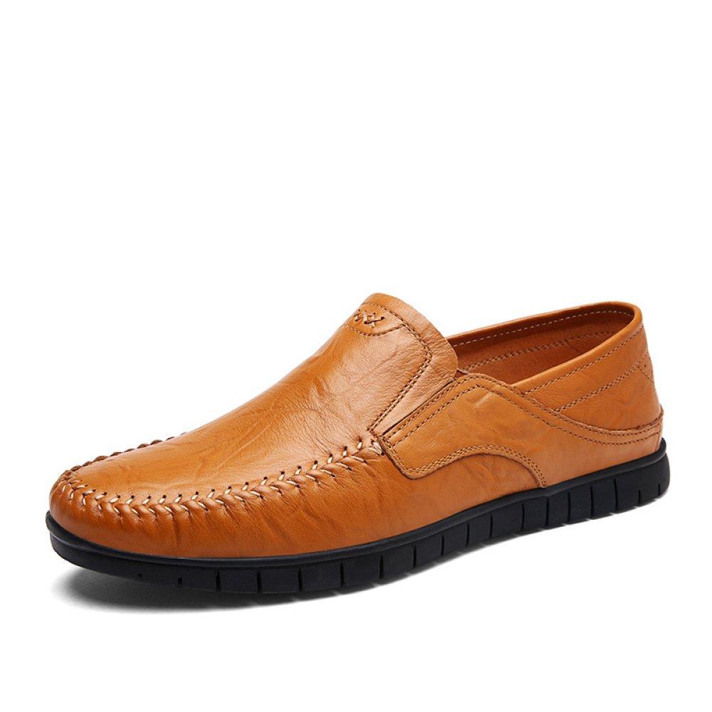 GTYMFH Frühling und Sommer Einzelne Schuhe Herren Atmungsaktiv Herrenschuhe Niedrige Hilfe Business Casual Herrenschuhe