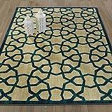 Ottomanson Authentic Collection Contemporary Geometric Trellis Design Area Rug, 3'3″ X 5'0″, Green Review