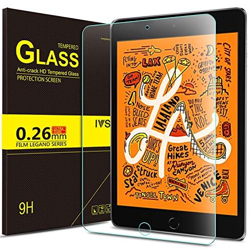 IVSO Screen Protector for ipad Mini 5,Scratch-Resistant No-Bubble 9H Hardness HD Clear Tempered Glass Screen Protector for ipad Mini 5 7.9 inch 2019 Tablet ()