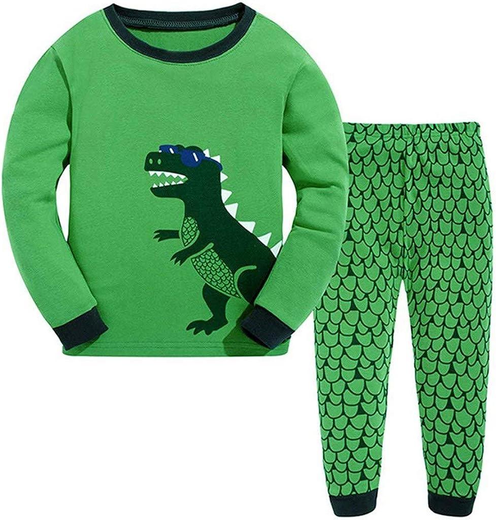 Kehen Kid Pajamas Set Dinosaurs Print Cotton Pyjamas for Boys Girls Pjs Toddler Sleepwear
