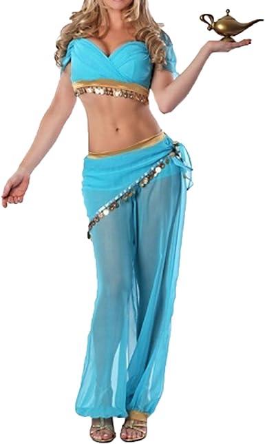 Quesera de la mujer disfraz de princesa Jasmine Aladdin talla ...