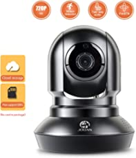JOOAN 720P HD Home Security Camera IP Network Camera Surveillance Wireless WiFi Dome Camera for Baby/Pet/Elder Monitor with PTZ Motion Detection Alerts Night Vision and Two-Way Audio
