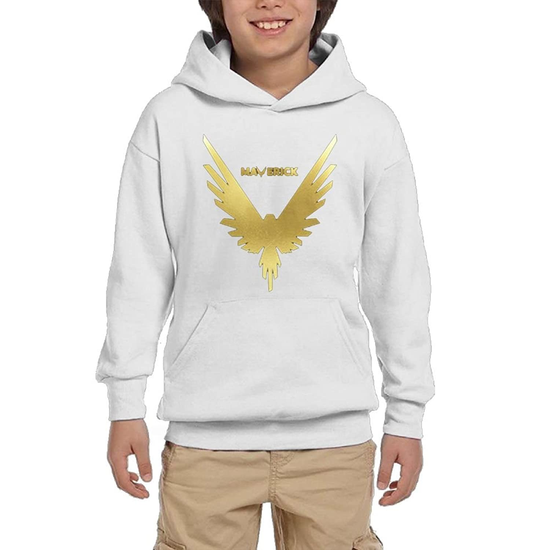 discount Tisky Gold Maverick Logo Youth Sweatshirt Youth Hoodie Boys Sweater Girls Pullover Hooded Sweatshirt Large supplies