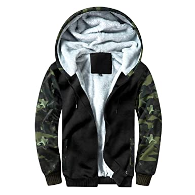fc4f0fefa69 TOLOER Men s Pullover Winter Fleece Hoodie Jackets Full Zip Warm Thick Coats  Army Green Small