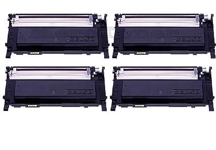 4 x Tóner XXL patroene Repuestos para Samsung CLP 310, CLP310 N ...