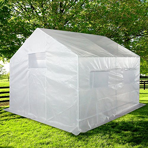 Quictent 2 Doors 12 Stakes 10′ X 9′ X 8′ Portable Greenhouse Large Walk-in Green Garden Hot House