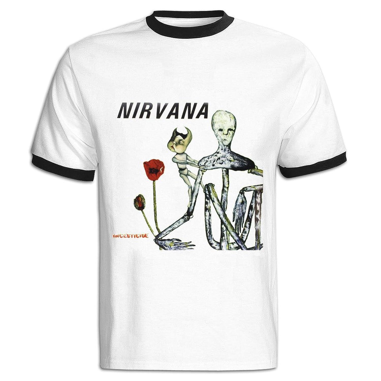 Paquette Men's Nirvana Incesticide Punk Cotton Short Sleeve T-shirts Tee