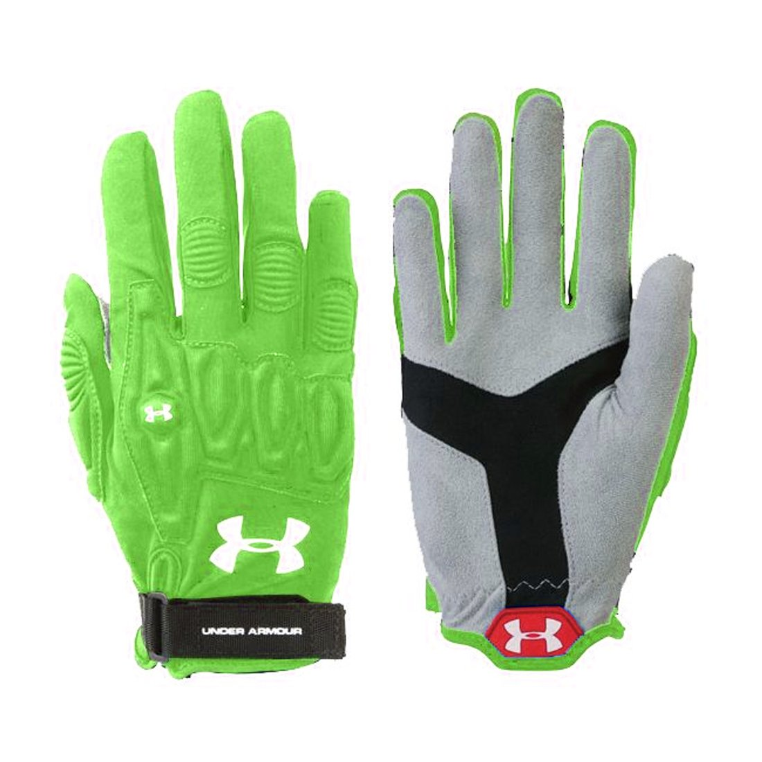Under Armour Illusion Women's Lacrosse Gloves in Lime Green-Medium