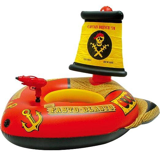 Pool Toy Pistola de Agua Flotante Inflable Barco Pirata Inflable ...