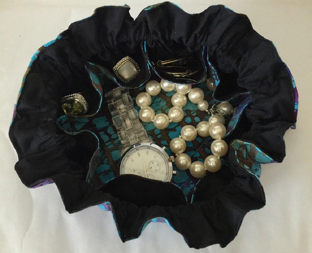 GREAT GIFT! TURQUOISE Travel Jewelry Pouch Bag & Cosmetic Tote by Luggage Spotter (Image #3)