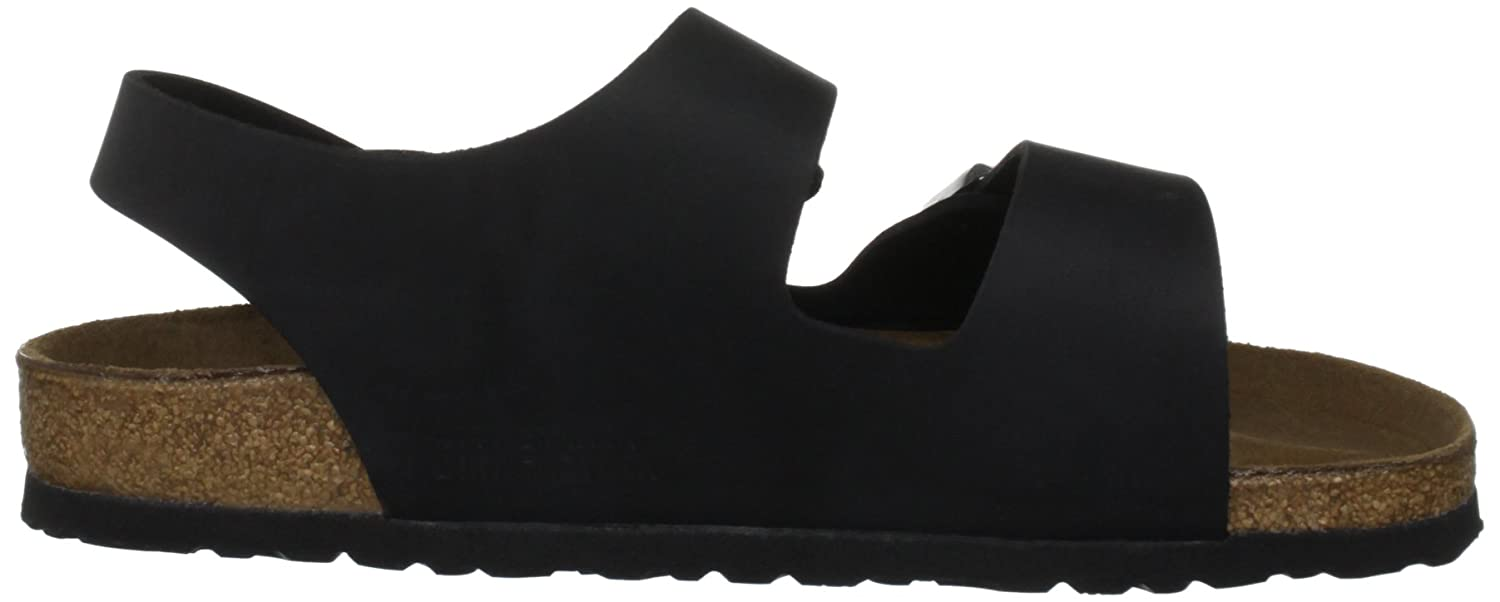Buy Birkenstock Men's 234241 Milano Leather San, Black, 42