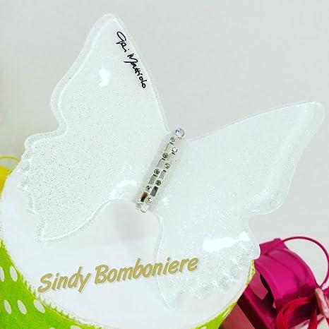 pretty nice 00a11 84ae3 Bomboniere lanterne in metallo colorate con farfalle ideali per cresima,  comunione (centrale confezionato)