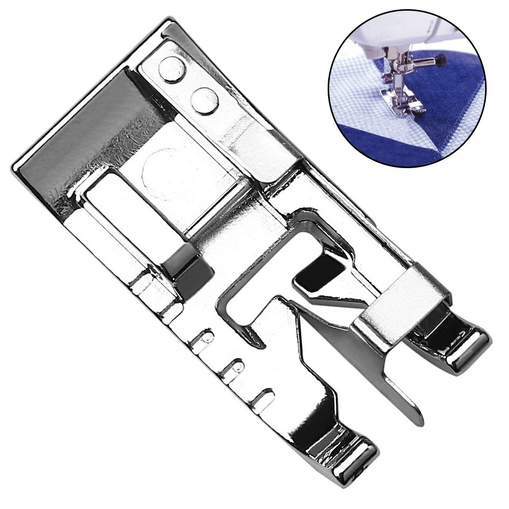 Edge Foot, EUBags Snap On Stitch In The Ditch Edge Joining Presser Foot Sewing Feet for Brother Singer Janome Kenmore Babylock Sewing Machine