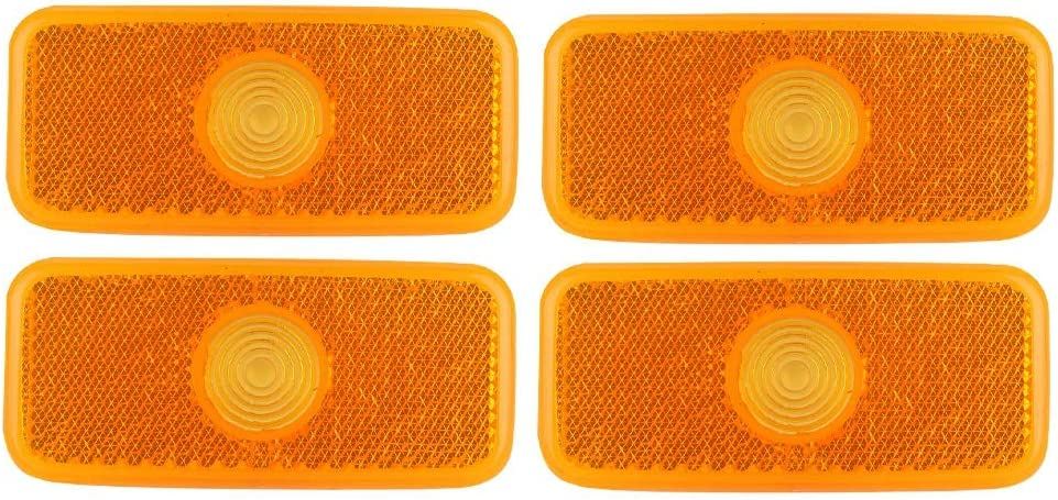 2Pair PMMA Car Side Marker Lamp Lens Light Cover 1671689 Fits For TRANSIT MK6//MK7 OE: 11671689 Suuonee Side Marker Light Cover VYC155034AC VYC15-5034-AC