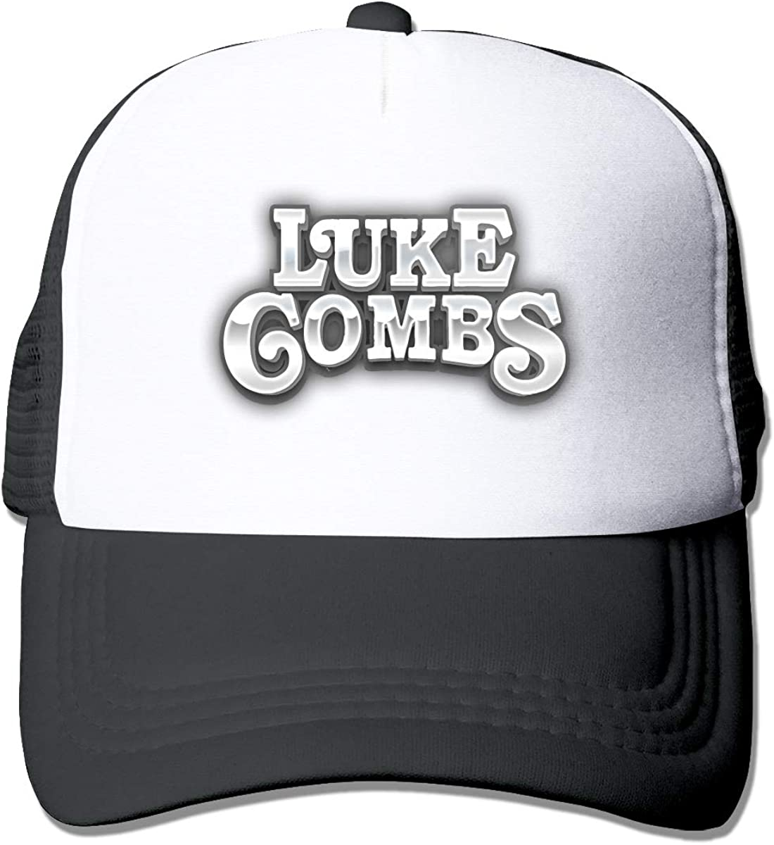 DaisyUp Luke Combs Grey and Black Trucker Style Hat One Size Men and Women