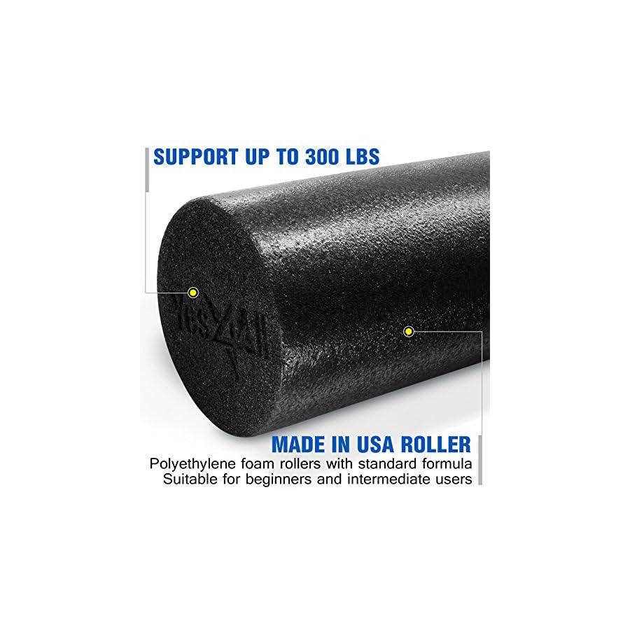 Yes4All Premium PE Foam Roller: 12,18, 24 & 36 inch (Multi Color)