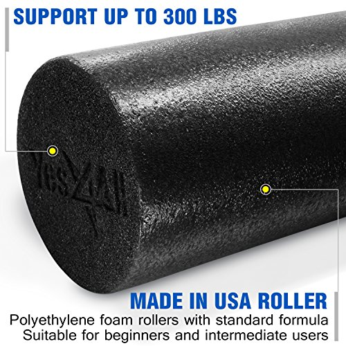 Yes4All Premium USA Foam Roller: 12,18, 24 & 36 inch (Multi Color)