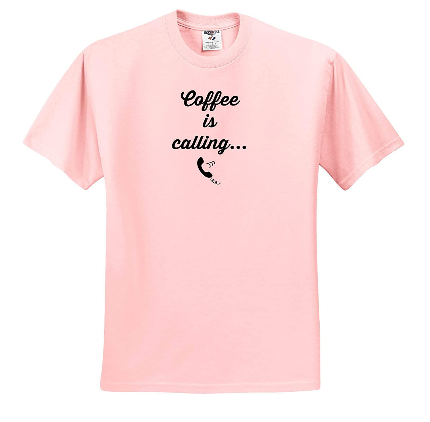 Image of Coffee is Calling Quote Adult T-Shirt XL 3dRose Gabriella-Quote ts/_316919