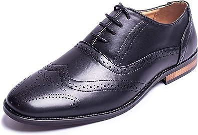Mens Oxford Wingtip Lace Dress Shoes