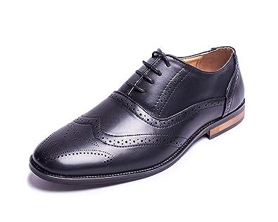 598bbed8672d Jabasic Men Oxford Shoes Classic Modern Wingtip Lace Dress Shoes