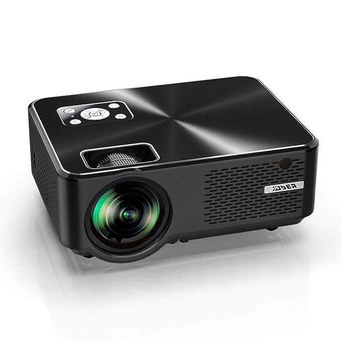 Proyector YABER Mini Portátil Proyector Cine en Casa 4000 Lúmenes Resolución Nativa 1280*720p, Vídeo Proyector Con HiFi Altavoces Incorporados, Cubierta de Metal, Soporte HDMI/USB/VGA/AV