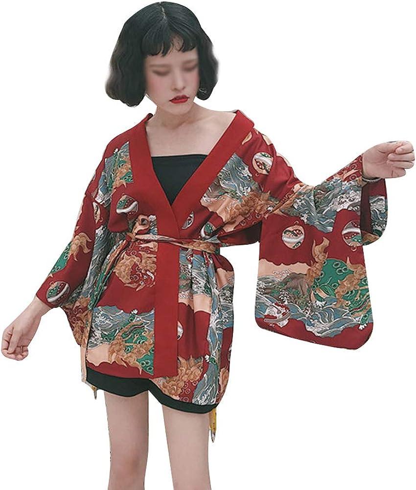 Mujer Yukata Camisa Kimono Estampado Pijama Bata De ...