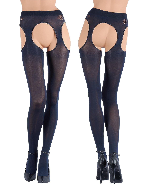 39c56e5d4 Amazon.com  Trasparenze Cortina Opaque 100 Denier Strip Panties - Made in  Italy  Clothing