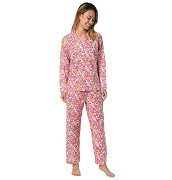 The Cats Pajamas Pink Sugar Skulls Womens Pajama X-Large