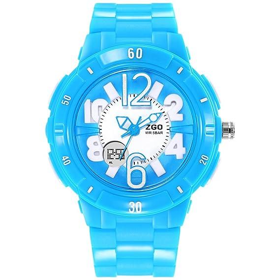 niñas ven/Simple chicas lindas impermeabilizan relojes digitales-azul