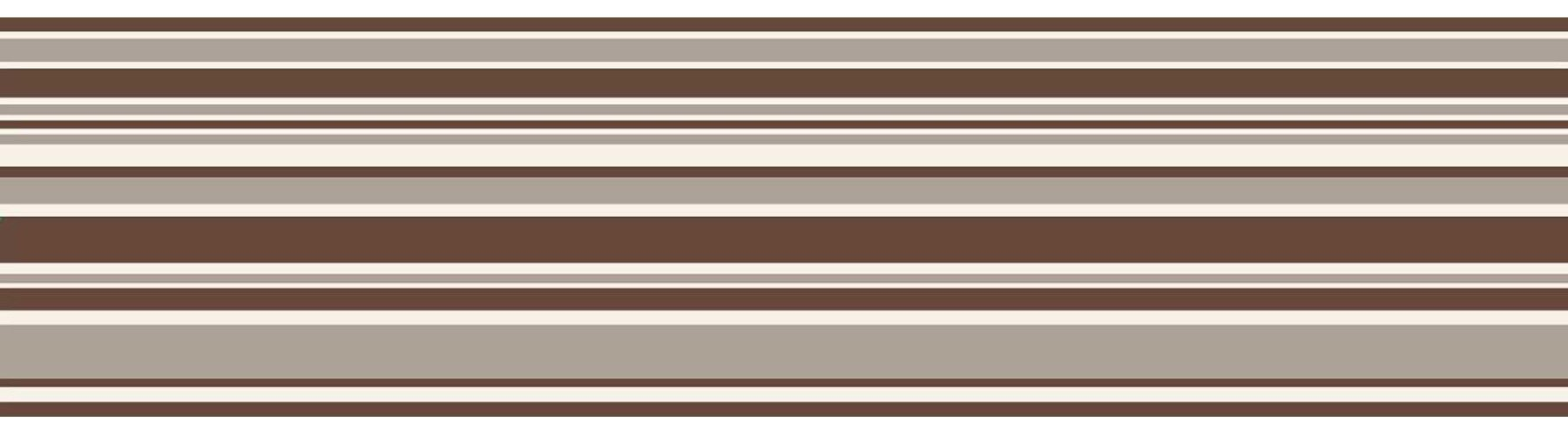 Fine Decor FDB07514S Chocolate Horizontal Stripe Peel and Stick Border