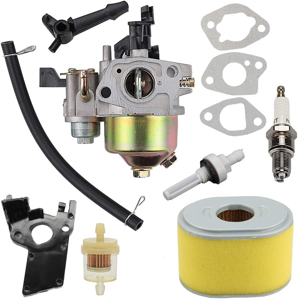 GX120 Carburetor with Ignition Coil and Air Filter for Honda GX120 GX140 GX160 GX168 GX200 Small Engine Replaces# 16100-ZH8-W61