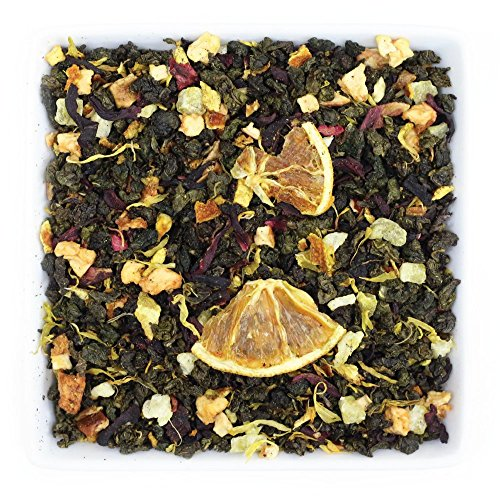 Tealyra - Blood Orange Oolong - Hibiscus - Chrysanthemum - Loose Leaf Tea - Medium Caffeine - 112g (4-ounce) by Tealyra