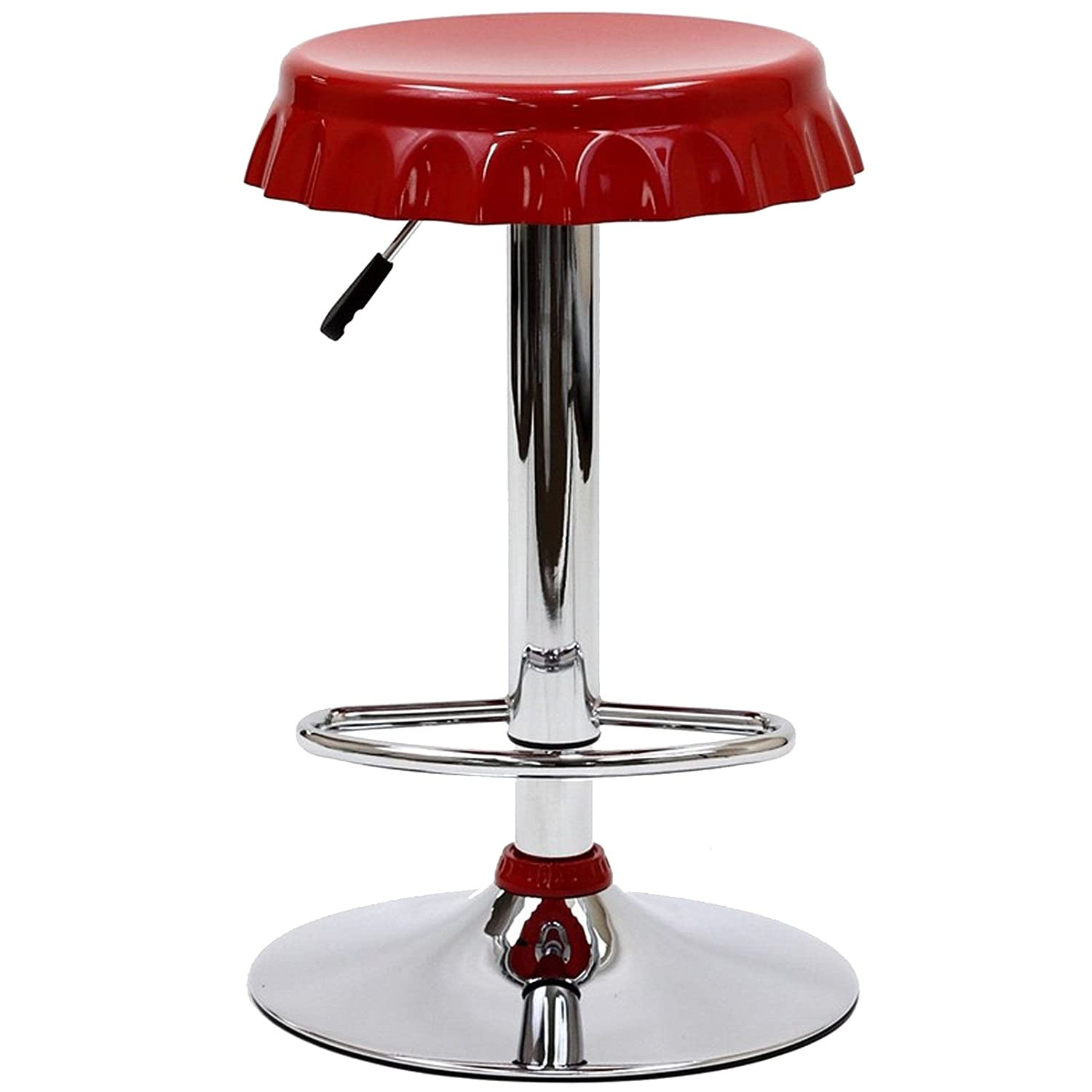 Amazon com modway soda bottle bar stool in red kitchen dining