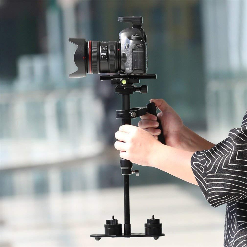 """con Piastra a Sgancio Rapido Viti 1//4/"""" per Fotocamere DSLR Videocamere Canon Nikon Sony ecc. ICOCO Stabilizzatore Portatile"""