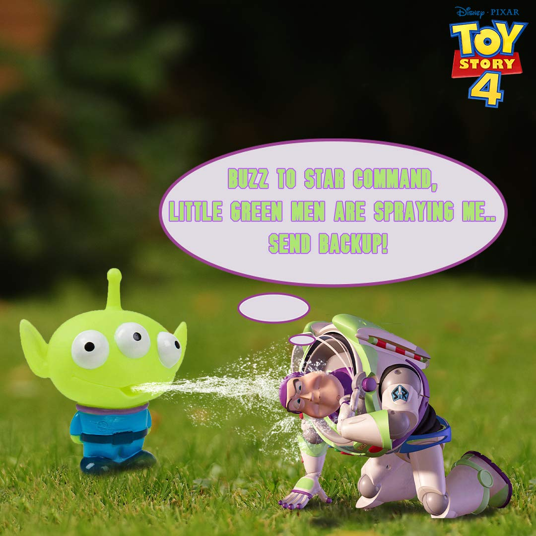 Jeu Extra-terrestre Arroseur Amusant Ext/érieur Ou Int/érieur pour Le Jardin La Baignoire Disney Pixar Toy Story Lot De 3 Jouets Darrosage /À Jets deau pour Enfants Accessoires De Bain Piscine