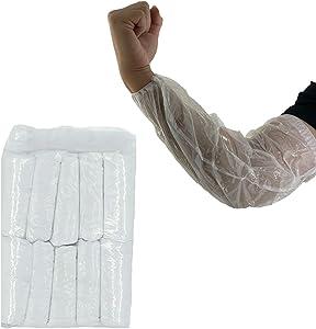 Disposable Arm Sleeves Covers, PeSandy 100pcs Waterproof PE Oversleeves Covers