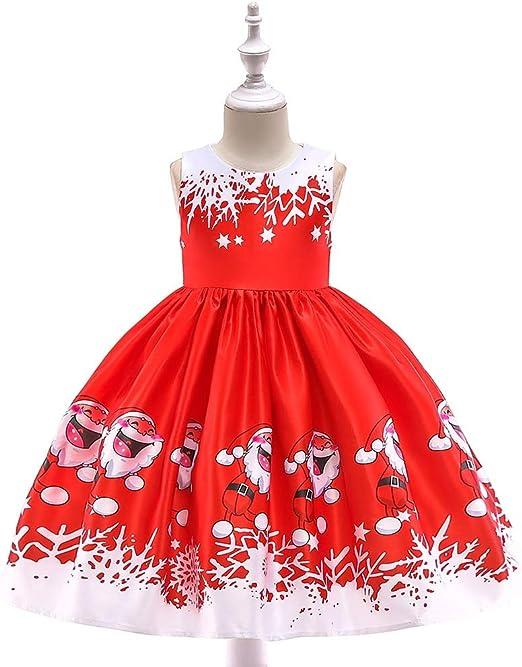 YyZCL Disfraz de niña Vestido de Fiesta sin Mangas para niñas ...