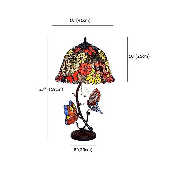 FUMAT Tiffany Beside Light Butterfly Table Lamp Retro Lights 16