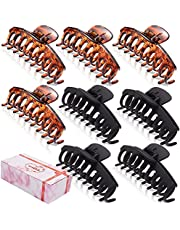 GQLV 8 PCS Large Hair Claw Clips for Women,4.4 Inch Big Banana Hair Clips for Thick Hair/Thin Hair,Nonslip Jaw Hair Clips,Butterfly Hair Clips ,Hair Barrettes ,Fashion Accessories for Girls