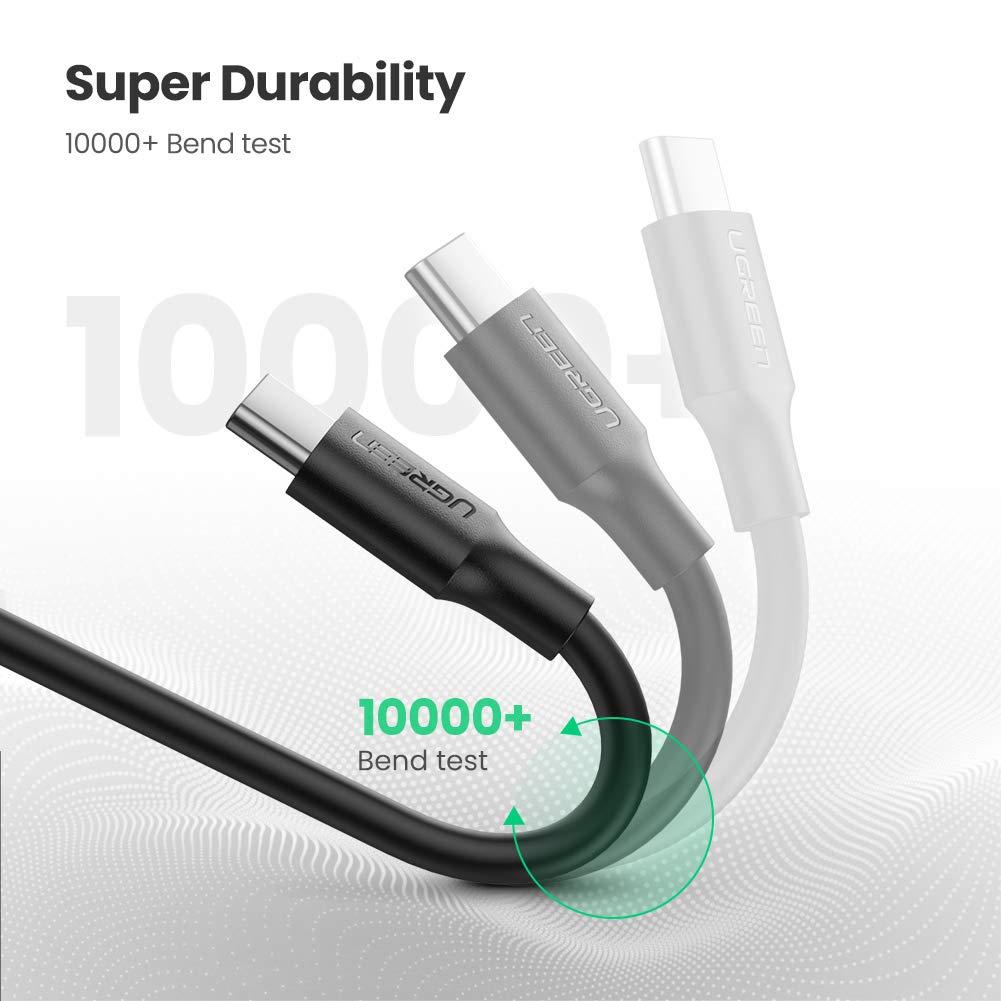 UGREEN Cable USB C, Xiaomi Redmi Note 8 Redmi Note 7 Mi 9 Mi A3 Mi A2 3Pack 0,5m+1m+2m Cable USB Tipo C a USB A 2.0 Carga R/ápida para M/óvil USB Type C Samsung S10 S9 A50 S8 Huawei P9,BQ Aquaris X
