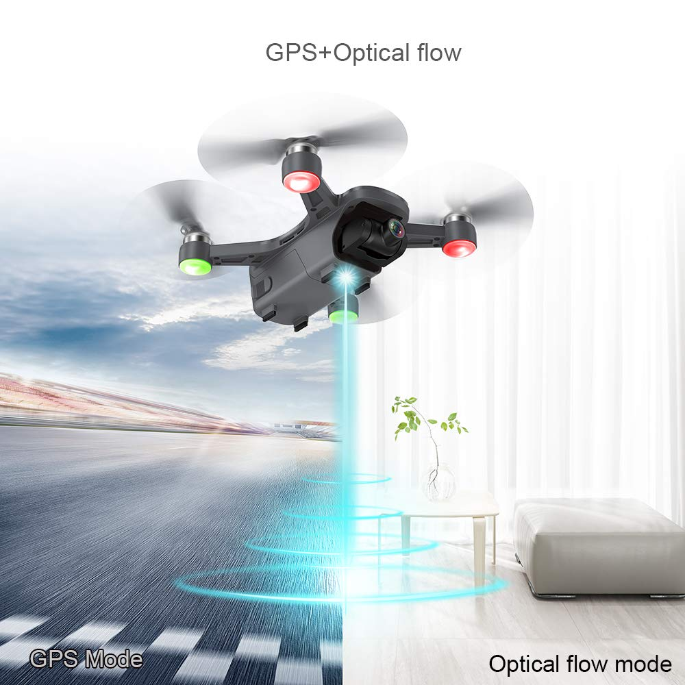 CFLYAI Dream01 FPV Drone with 4K Camera FHD Live Video Stabilized 2-axis Gimbal 5G WiFi GPS Return Home Portable Mini Drone with Brushless Motors with 2 Batteries