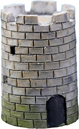 Outflower Mini ramo de piedra cuadrada y redonda para decoración de jardín, decoración de macetas, paisaje, pecera, accesorios de resina, decoración para el hogar y jardín: Amazon.es: Hogar