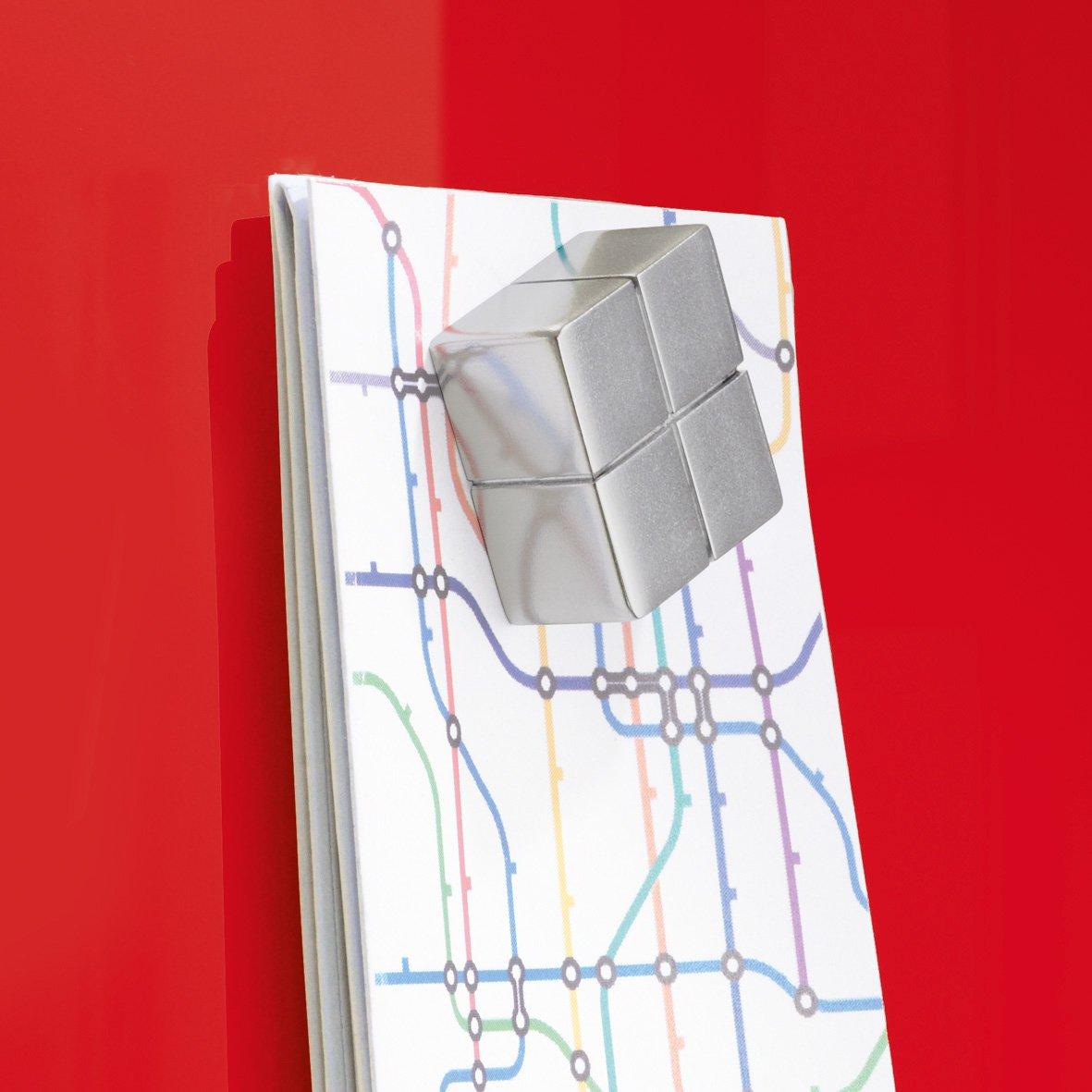 Sigel GL130 Tableau magn/étique en verre Artverum 78 x 48 cm noir