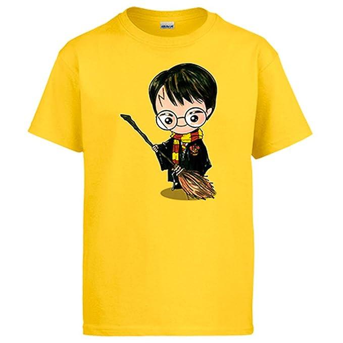 Diver Camisetas Camiseta Chibi Kawaii Harry Potter con Escoba voladora Parodia: Amazon.es: Ropa y accesorios